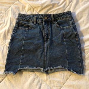 Denim mini skirt. Forever 21. Size S. Worn once